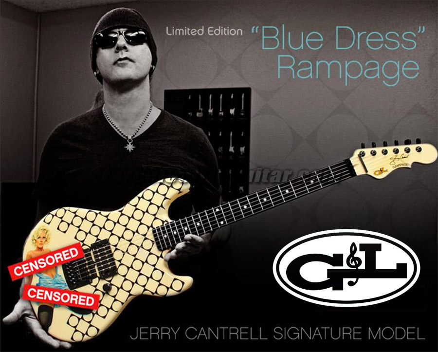 G&L Rampage Jerry Cantrell Blue Dress