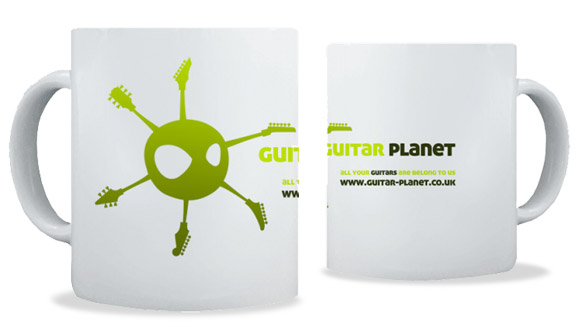 Guitar Planet coffee mug of doom