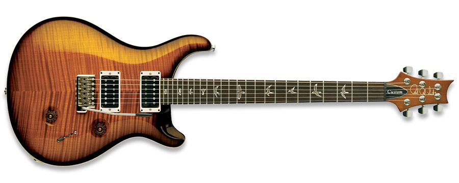 PRS 2011 Custom 24 10-Top Amber Black