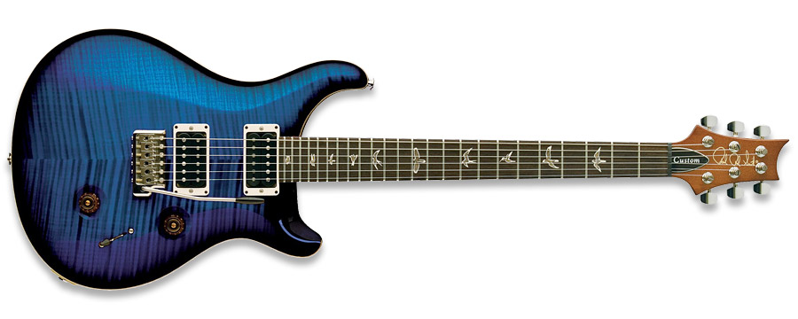 PRS 2011 Custom 24 10-Top Faded Blue Burst