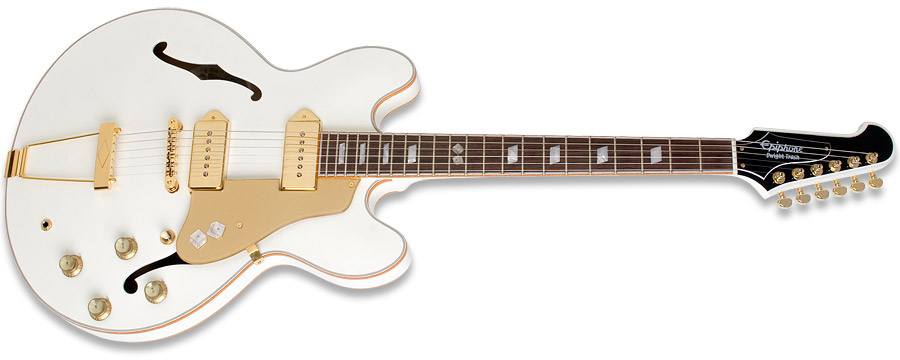 Epiphone Casino Dwight Yoakam Trash Jackpot White