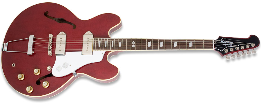 Epiphone Casino Dwight Yoakam Trash Roulette Red