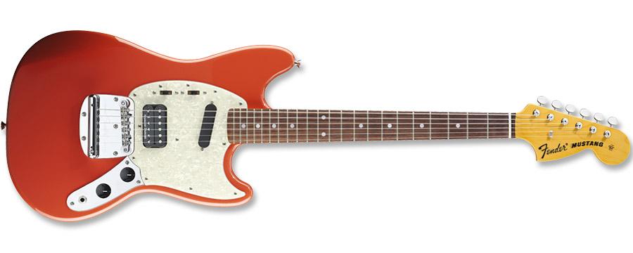 Fender Kurt Cobain Mustang Fiesta Red
