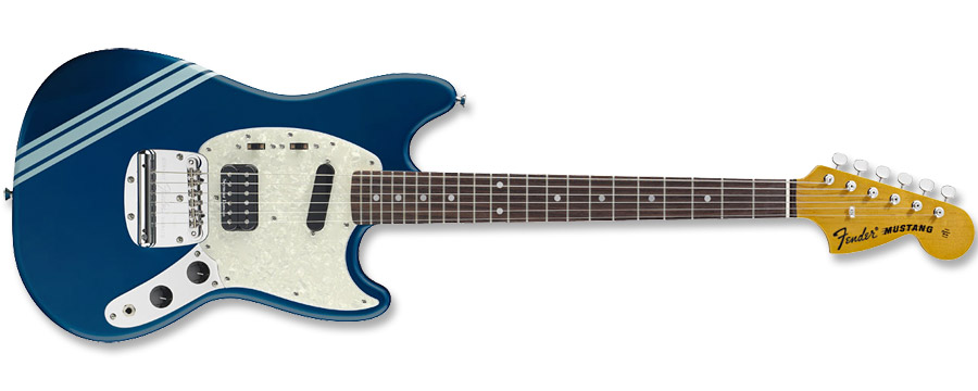 Fender Kurt Cobain Mustang Dark Lake Placid Blue