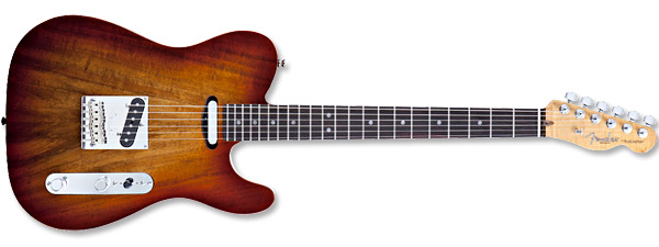 Fender Select Carved Koa Top Telecaster