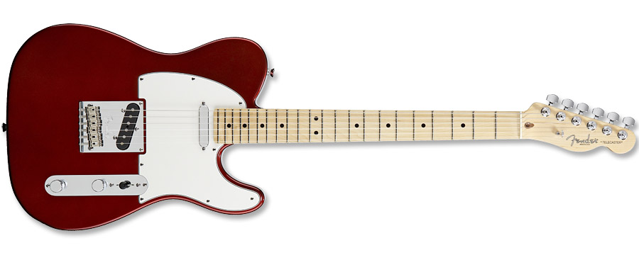 Fender American Standard Telecaster 2012 Crimson Red Transparent