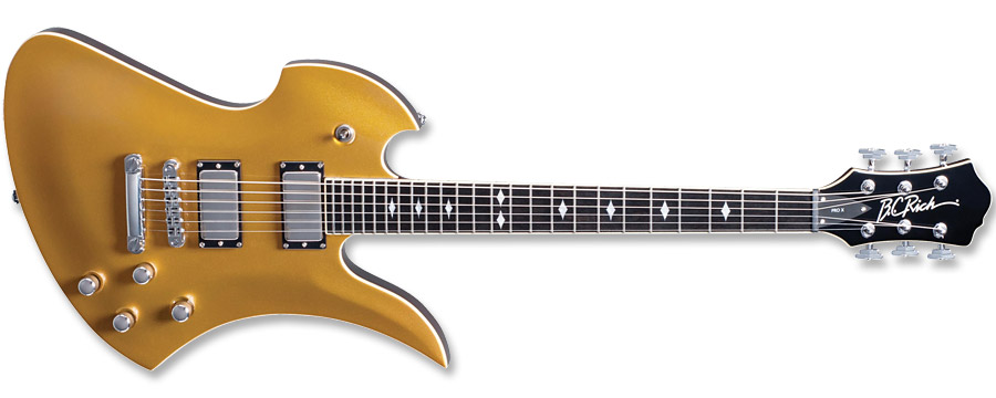 BC Rich Pro X Mockingbird Hardtail Goldtop