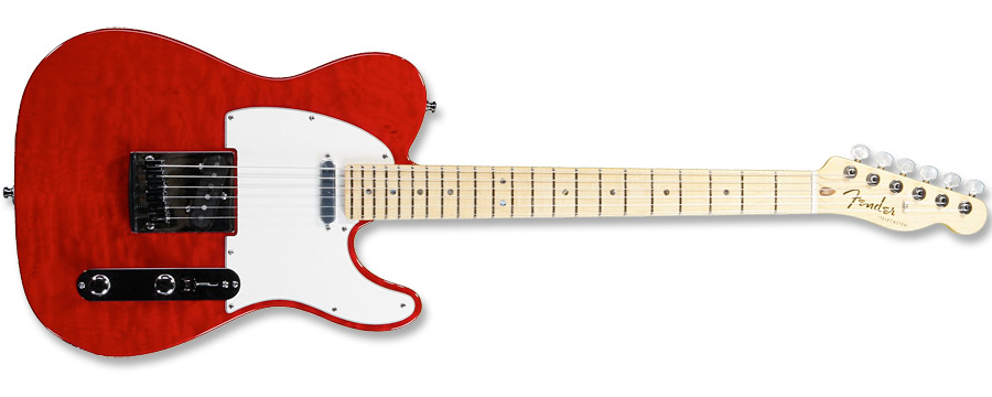 Fender Custom Deluxe Telecaster 2012 Candy Red
