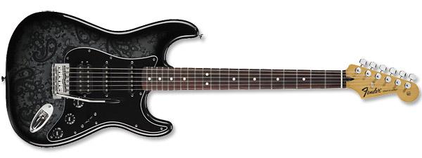 Fender FSR Black Paisley Stratocaster HSS