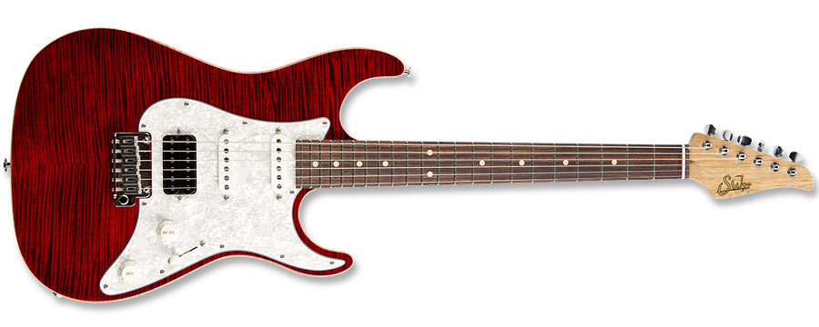 Suhr Korina Flame Chilli Pepper Red