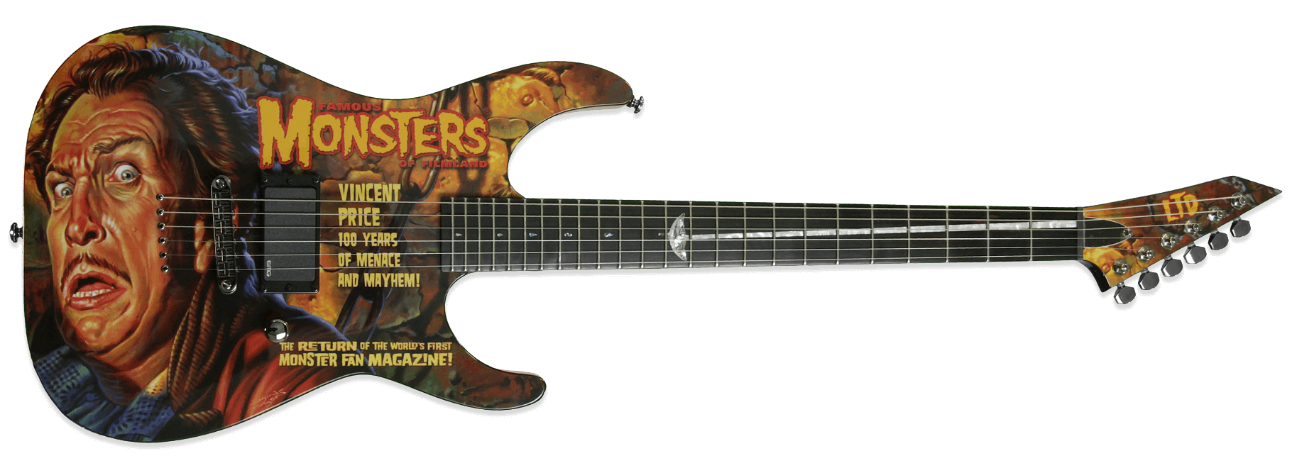 ESP LTD Vincent Price Famous Monsters Custom