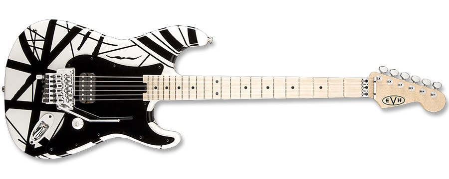 EVH Striped Series White Black