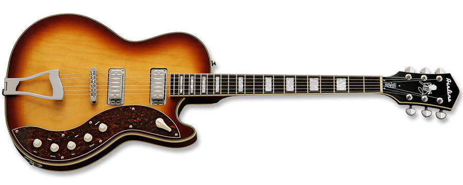 Eastwood Airline Jupiter Pro Dallas Green Honeyburst