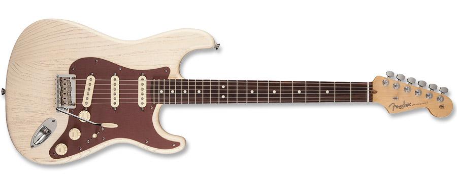 Fender FSR American Stratocaster Rustic Ash Olympic White