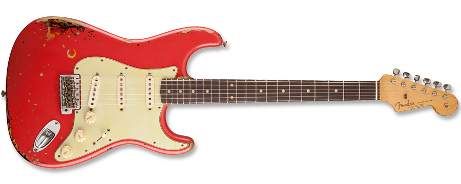 Fender Custom Shop Michael Landau 1963 Relic Stratocaster Fiesta Red