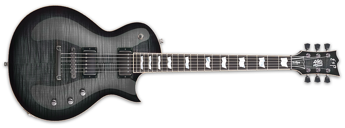 ESP Eclipse 40th anniversary See-Thru Black Sunburst