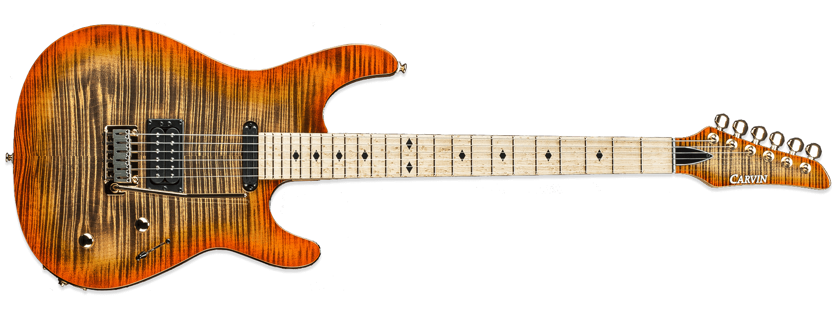 Kiesel Carvin GH24 Greg Howe California Orange Burst