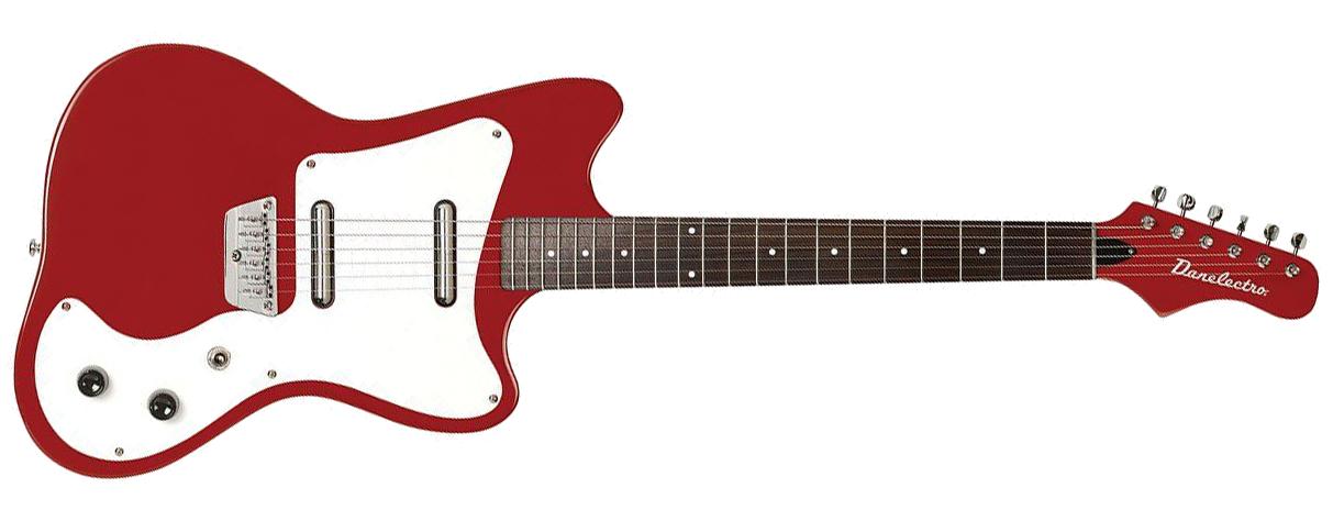 Danelectro DG67 Red Metal Flake