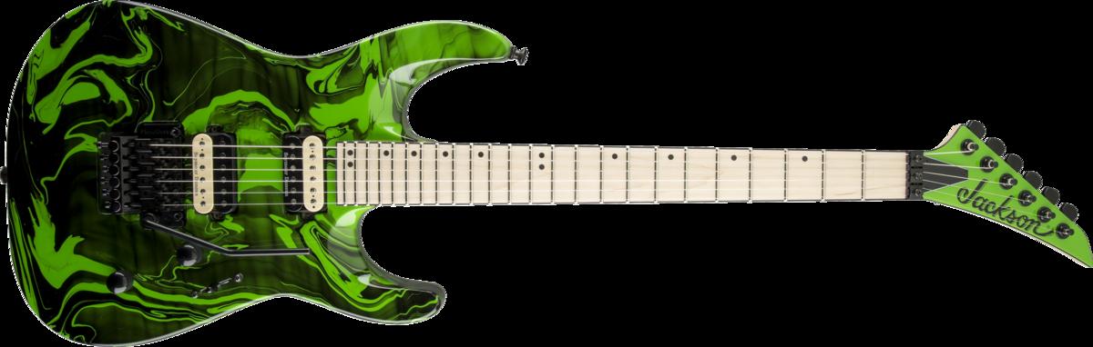 Jackson DK2M Pro Dinky Green Slime Swirl