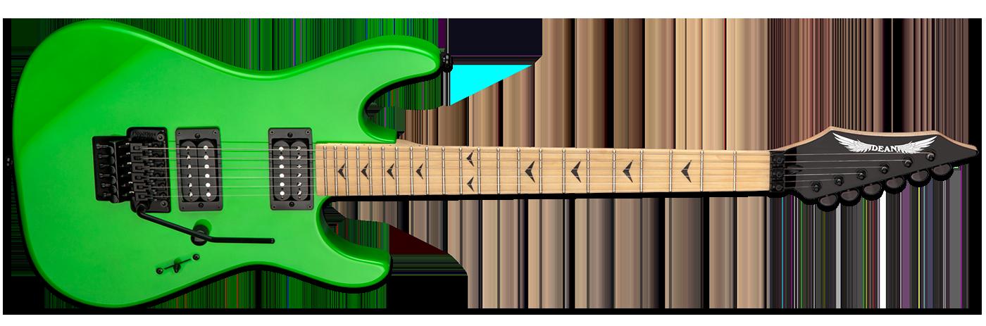 Dean Custom Zone Floyd II Nuclear Green