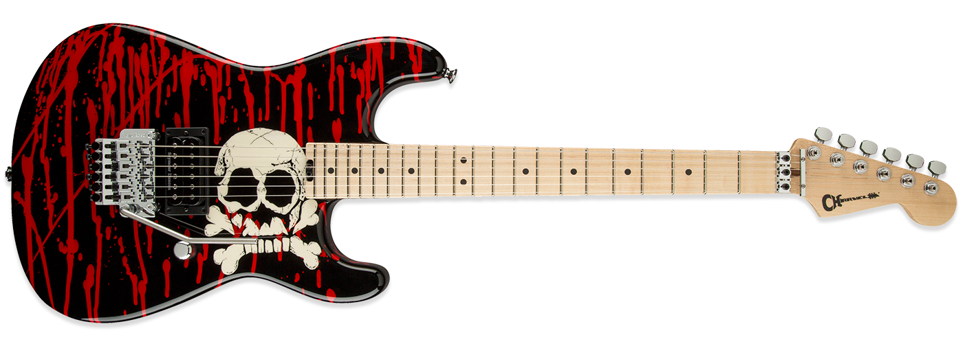 Charvel Warren DeMartini Signature Blood and Skulls Pro Mod