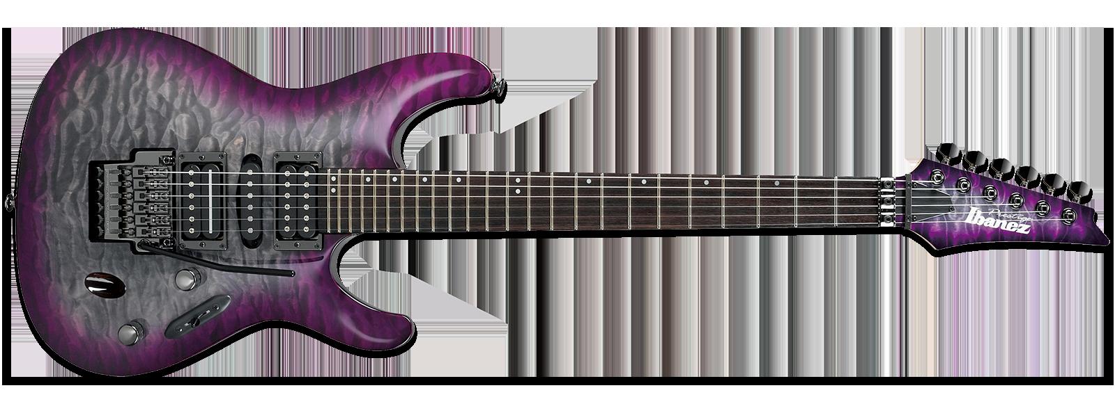 Ibanez S Prestige S5570Q Purple Doom Burst