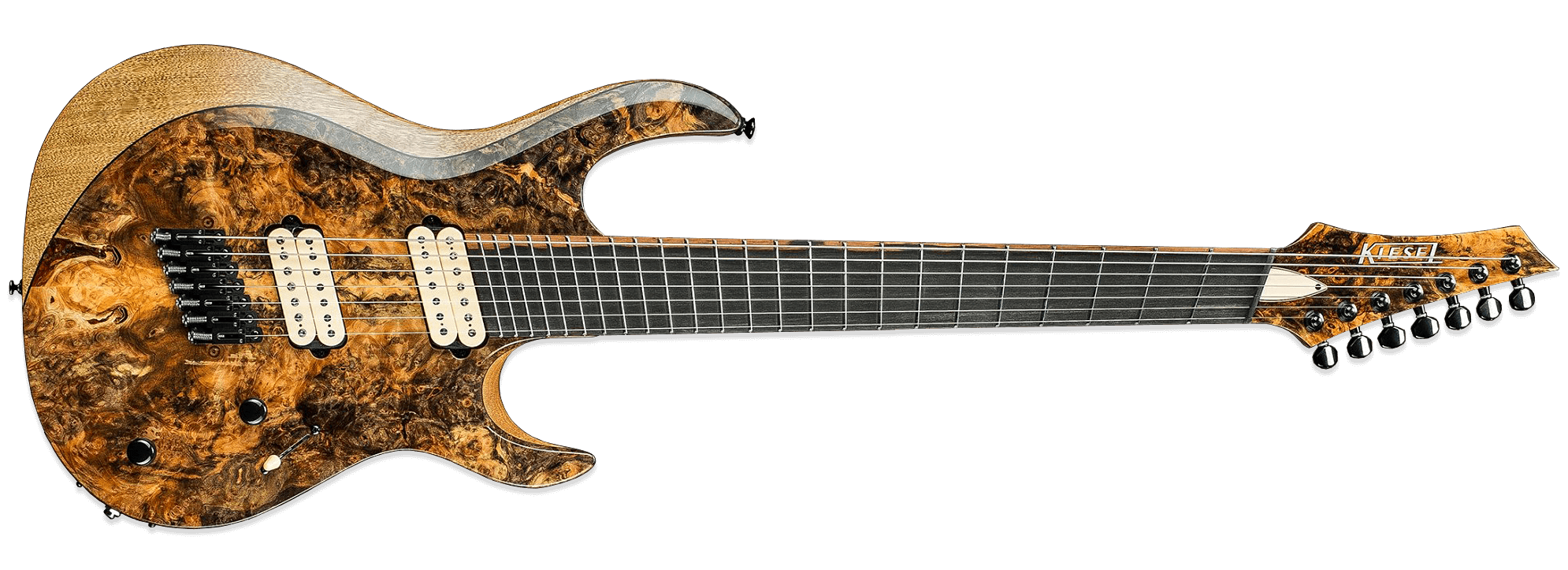 Kiesel Carvin Aries AM7 Multiscale Buckeye Burl