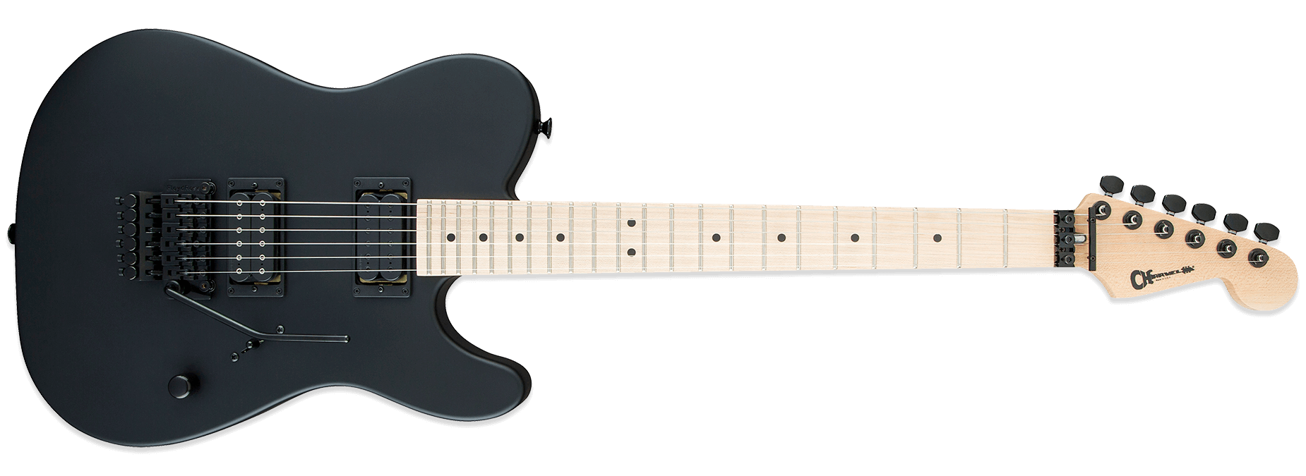 Charvel USA Select San Dimas Style 2 HH FR Pitch Black