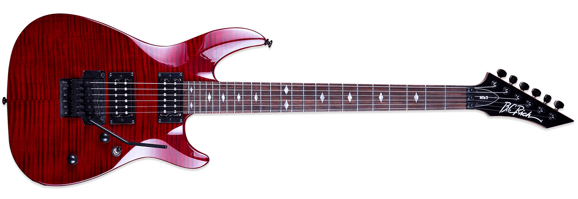 BC Rich Mk3 Villain Transparent Black Cherry
