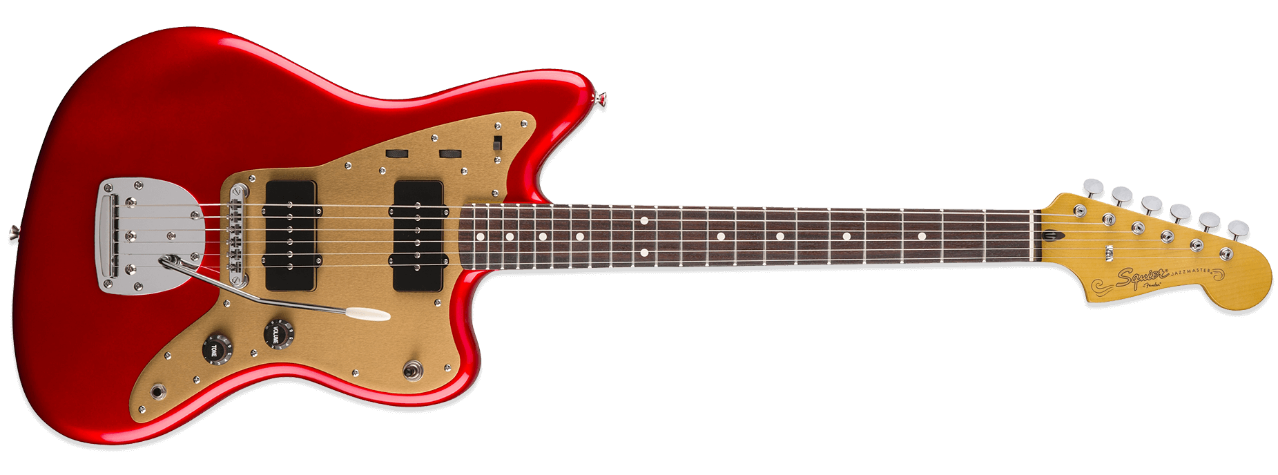 Squier Deluxe Jazzmaster Tremolo Candy Apple Red