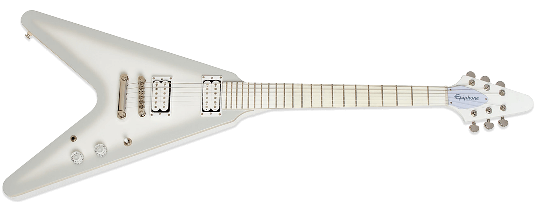 Epiphone Brendon Small Flying V Snow Falcon