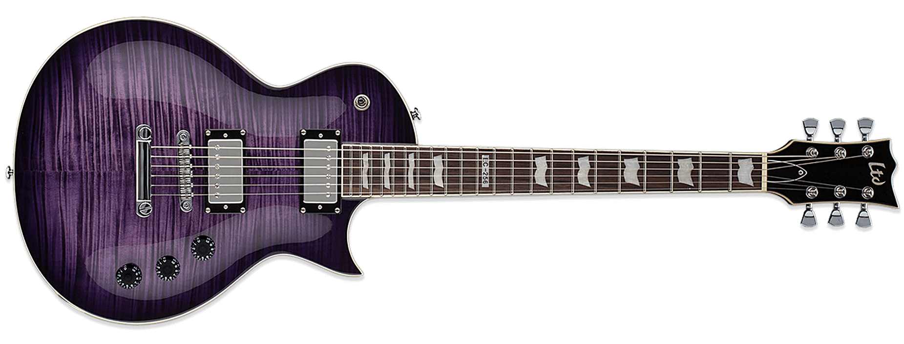 ESP LTD EC-256FM See-Thru Purple Sunburst