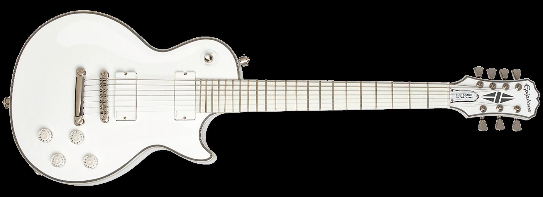 Epiphone Matt Heafy Snofall Les Paul Custom 7 Alpine White